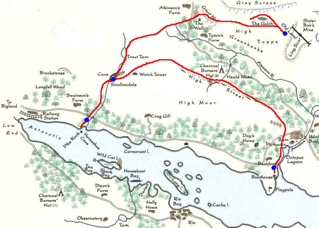 Route of Swallowdale Railway