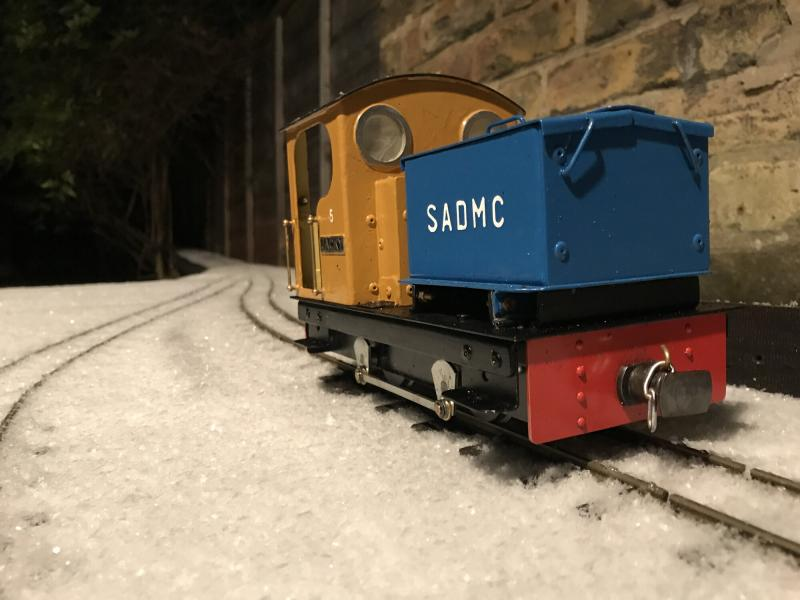No.5 JACKY in the snow at Beckfoot Shed 8 Feb 2021